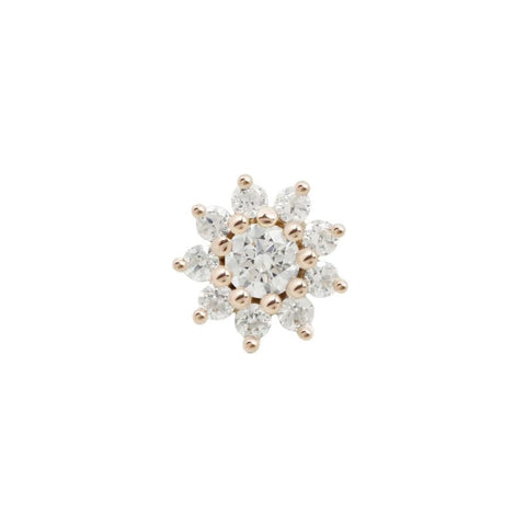 Eloise Flower CZ in 14k Rose Gold by Buddha Jewelry
