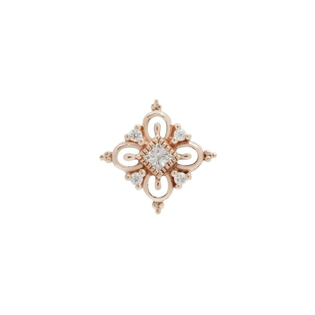 Esmee CZ End in 14k Rose Gold by Buddha Jewelry - Pierced