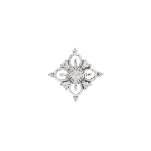 Esmee CZ End in 14k White Gold by Buddha Jewelry