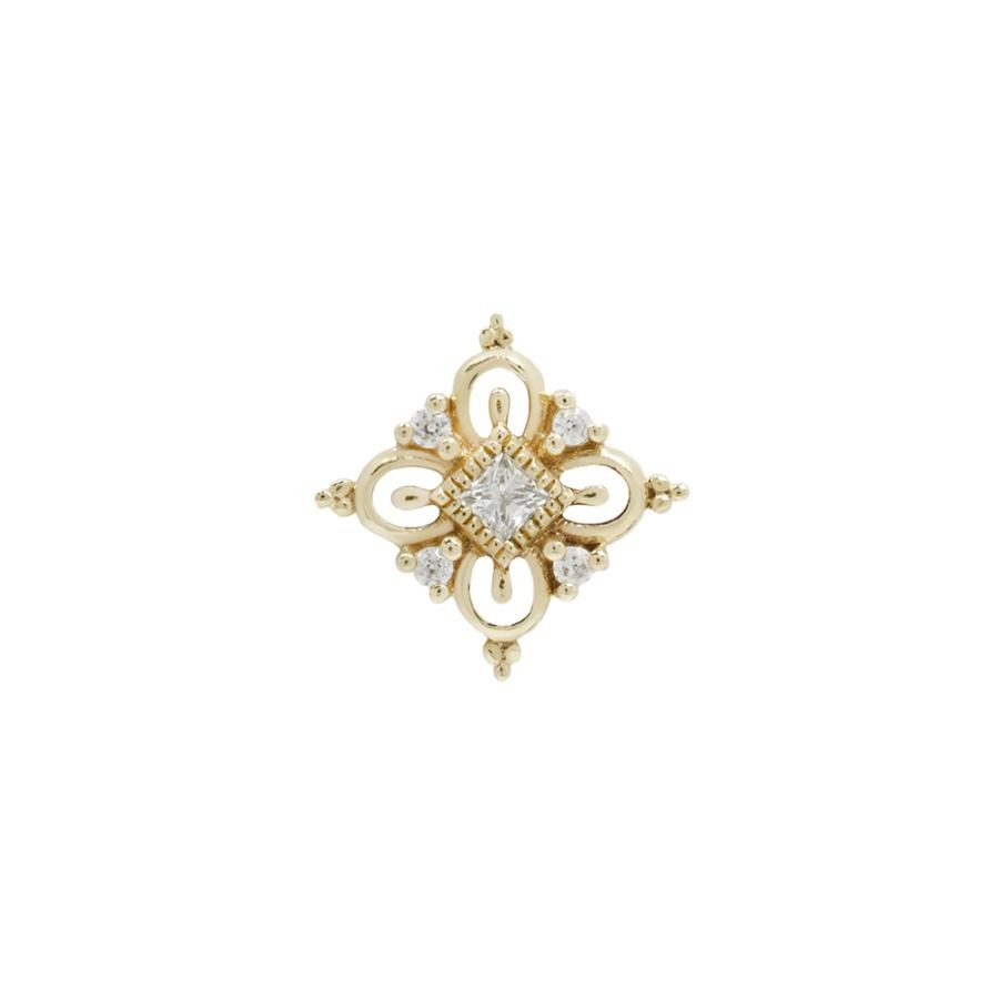 Esmee CZ End in 14k Yellow Gold by Buddha Jewelry - Pierced