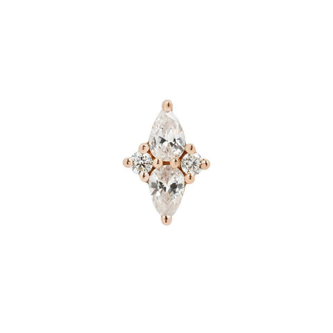 Ethereal CZ in 14k Rose Gold by Buddha Jewelry