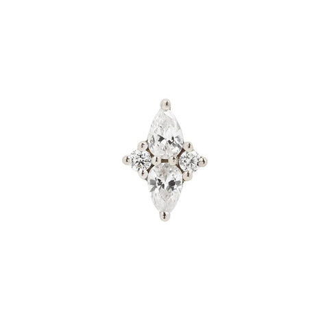 Ethereal CZ in 14k White Gold by Buddha Jewelry