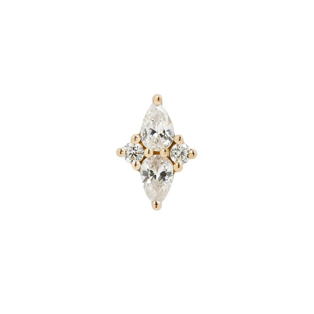 Ethereal CZ End in 14k Yellow Gold by Buddha Jewelry