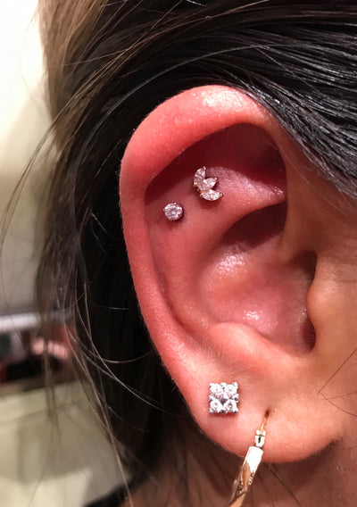 2 Flat Piercings in Mississauga