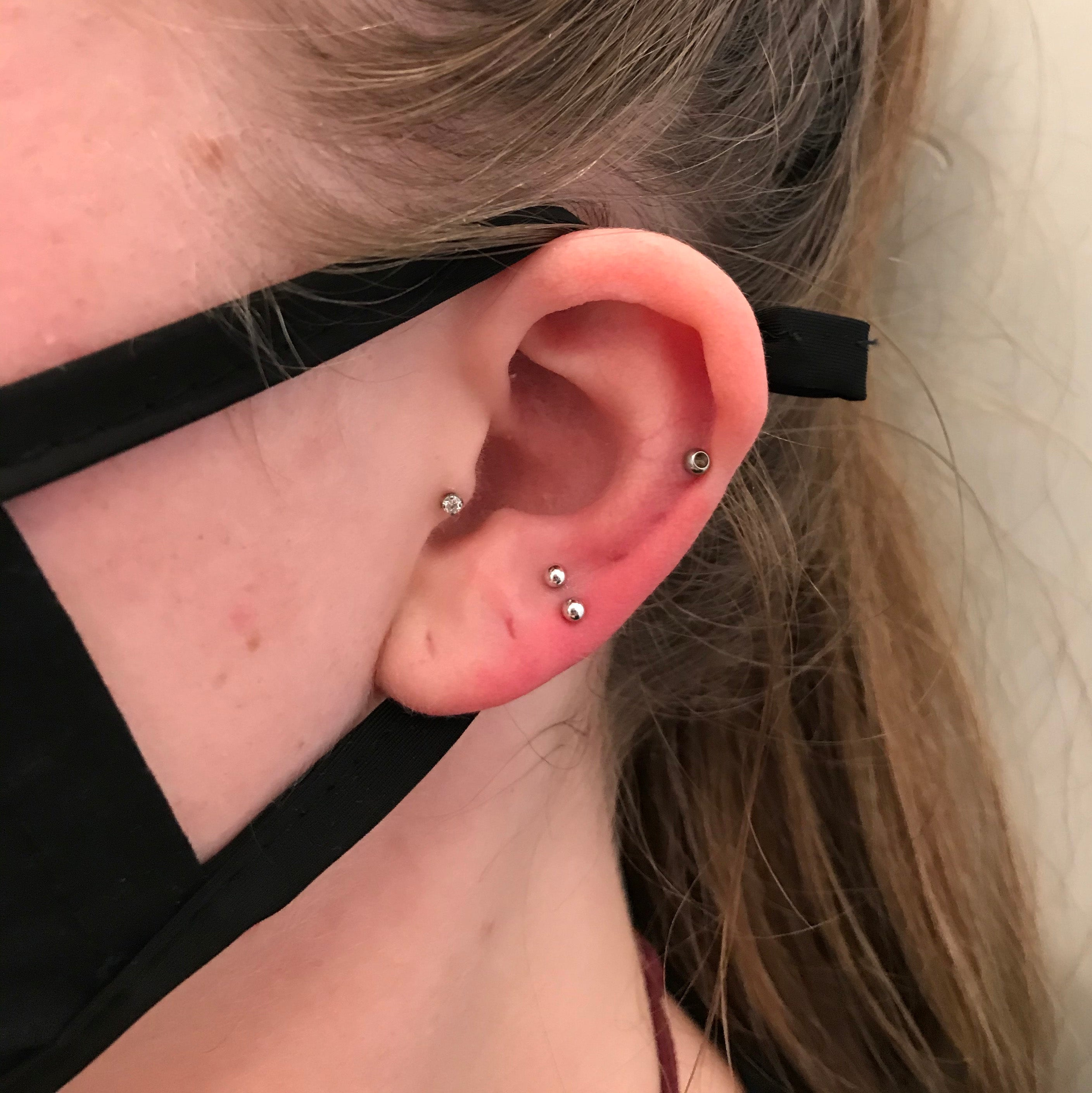 2 Ear Lobe Piercings in Mississauga