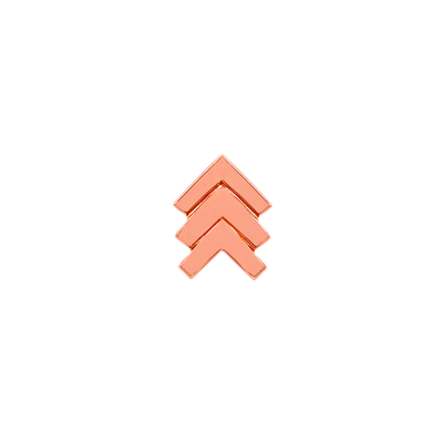 Triple Chevron in 14k Rose Gold by Junipurr
