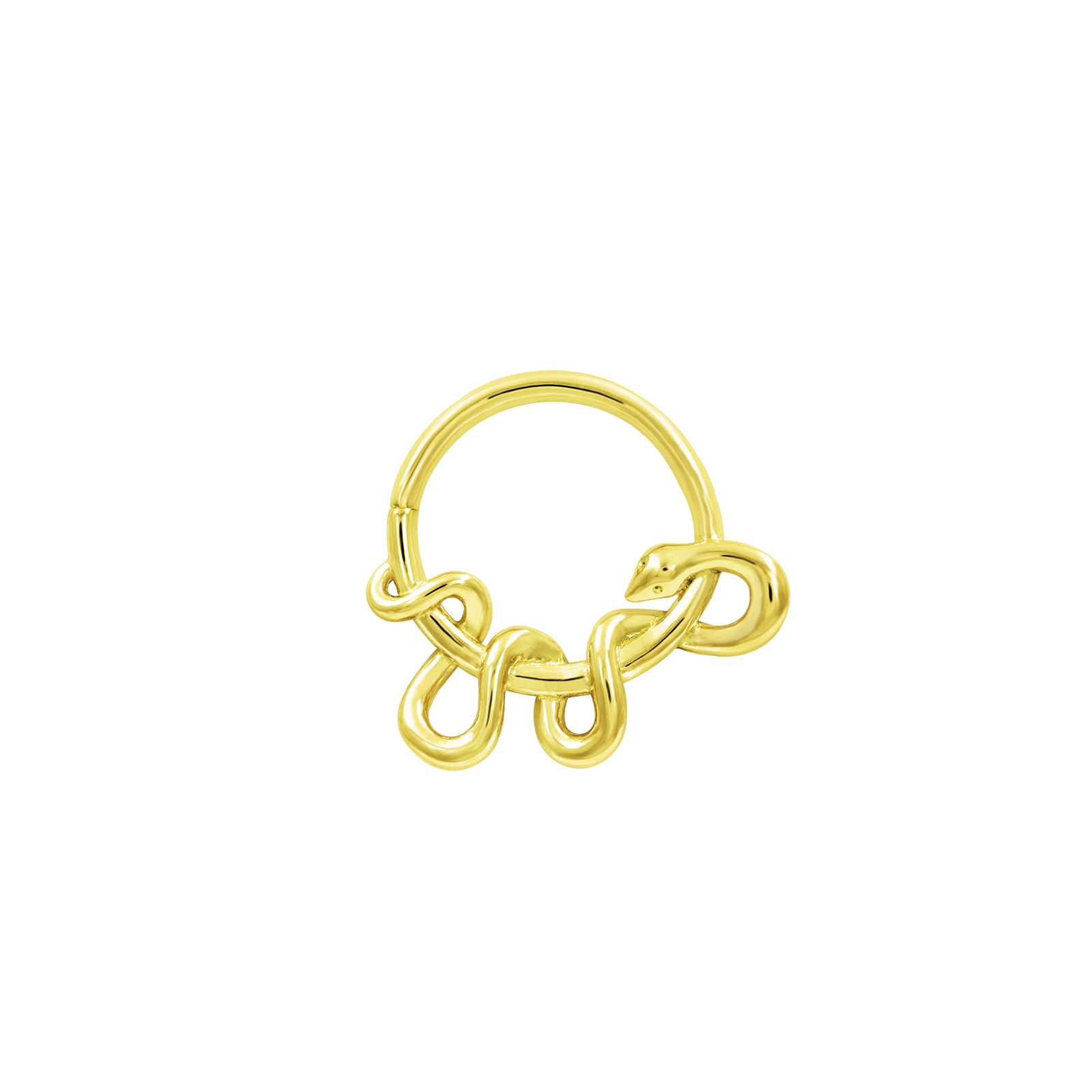 Kaa Seam Ring in Solid 14k Gold by Junipurr