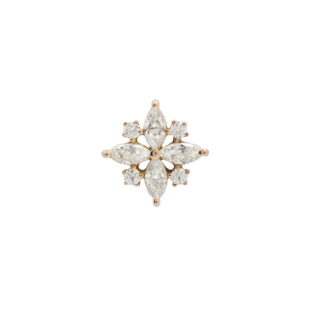 Jonquil CZ End in 14k Rose Gold by Buddha Jewelry