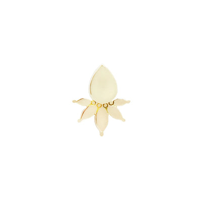 Lavish End in 14k Yellow Gold by Buddha Jewelry
