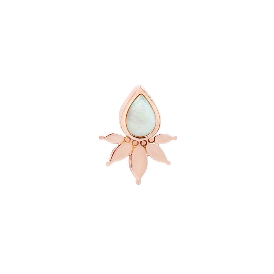 Lavish Opal End in 14k Rose Gold by Buddha Jewelry