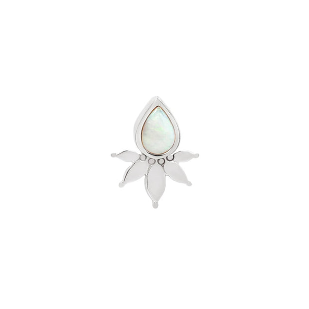 Lavish Opal End in 14k White Gold by Buddha Jewelry