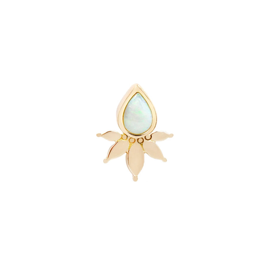 Lavish Opal End in 14k Yellow Gold by Buddha Jewelry