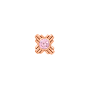 Zia Pink CZ End  in 14k Rose Gold by LeRoi