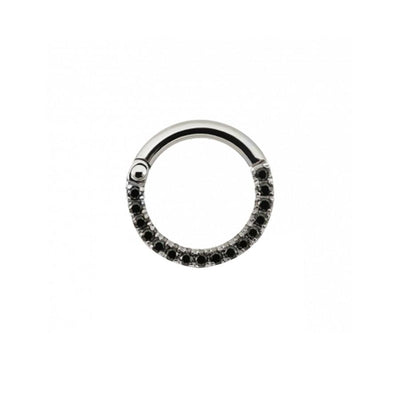 Eternity Black CZ Clicker in Titanium by Maria Tash - Pierced