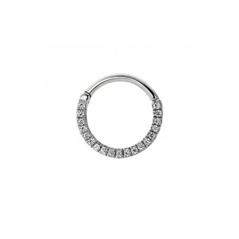 Eternity Clear CZ Clicker in Titanium by Maria Tash