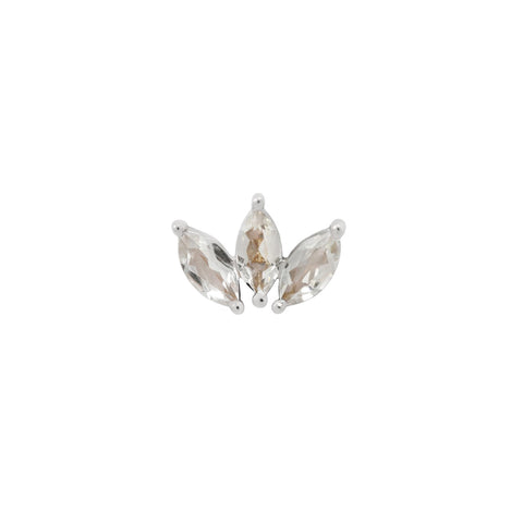 Moet Swarovski End in 14k White Gold by Buddha Jewelry