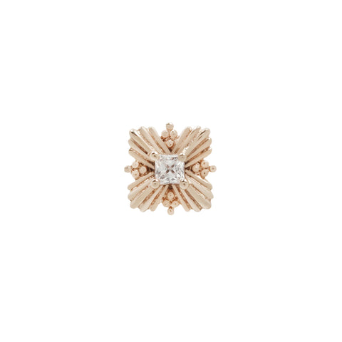 Naomi CZ End in 14k Rose Gold by Buddha Jewelry