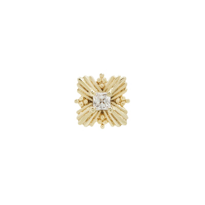 Naomi CZ End in 14k Yellow Gold by Buddha Jewelry
