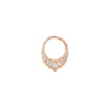 Prism CZ Clicker in 14k Rose Gold by Buddha Jewelry