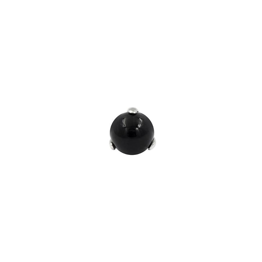 Onyx Ball Prong in 14k Gold by Junipurr