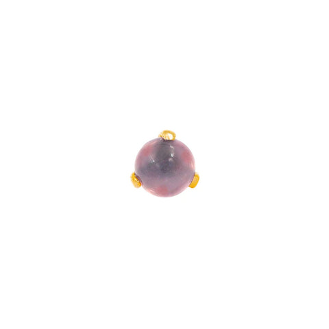 Rose Quartz Ball Prong in 14k Gold by Junipurr