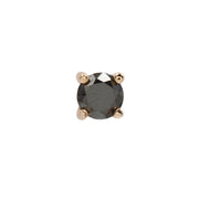 Genuine Black Diamond Prong  in 14k Rose Gold by Buddha Jewelry