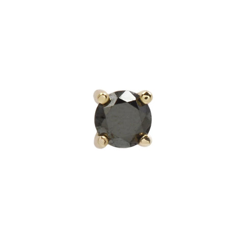 Genuine Black Diamond Prong in 14k Yellow Gold by Buddha Jewelry
