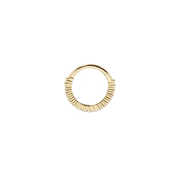 Radiant Clicker in 14k Yellow Gold by Buddha Jewelry
