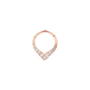 Rise + Shine Clicker in 14k Rose Gold by Buddha Jewelry