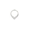 Rise + Shine Clicker in 14k White Gold by Buddha Jewelry
