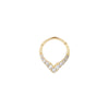 Rise + Shine Clicker in 14k Yellow Gold by Buddha Jewelry