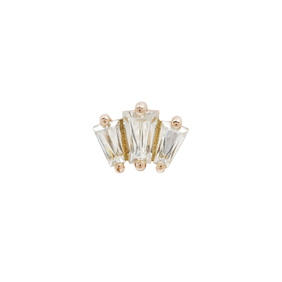 Gemma Swarovski End in 14k Yellow Gold by Buddha Jewelry