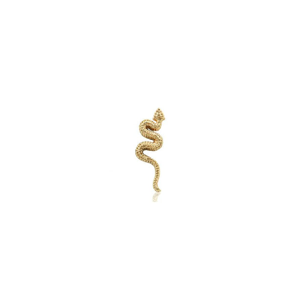 Snake End in 14k Gold by Body Gems