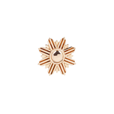 Starburst End in 14k Rose Gold by Buddha Jewelry