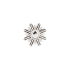 Starburst End in 14k White Gold by Buddha Jewelry