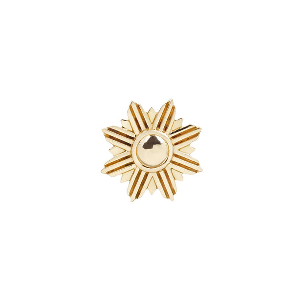 Starburst End in 14k Yellow Gold by Buddha Jewelry