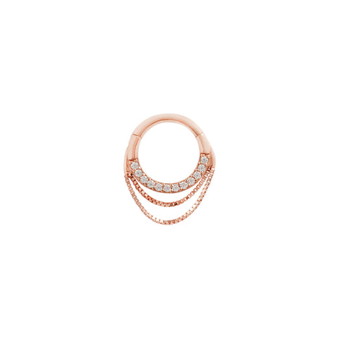 Tempeste Chain Clicker in 14k Rose Gold by Buddha Jewelry