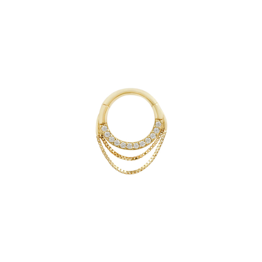 Tempeste Chain Clicker in 14k Yellow Gold by Buddha Jewelry