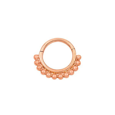 Beaded Clicker Ring in 14k Gold by Junipurr