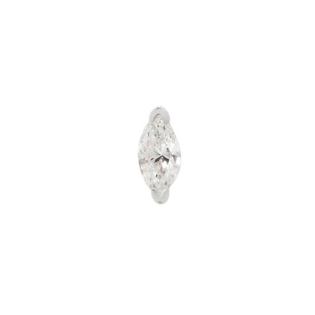 Zuri CZ inn 14k White Gold by Buddha Jewelry