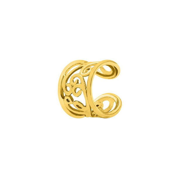 Flourish Ear Cuff in 14k Yellow Gold by BVLA - Pierced