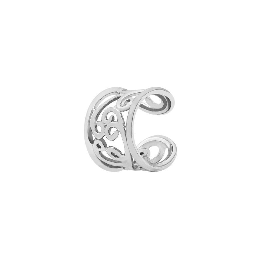 Flourish Ear Cuff in 14k White Gold by BVLA - Pierced