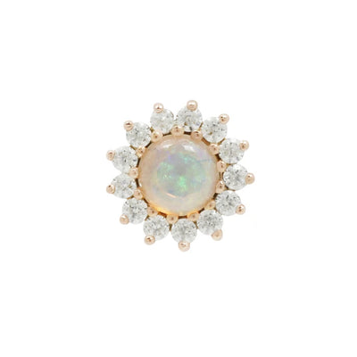 Delphine Opal CZ in 14k Rose Gold by Buddha Jewelry