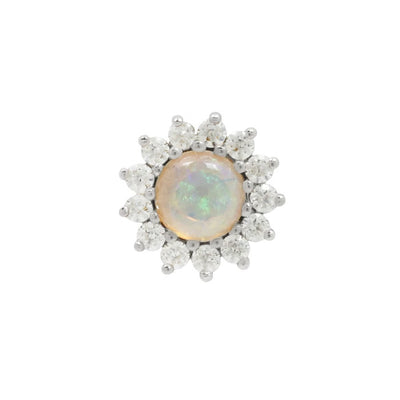 Delphine Opal CZ in 14k White Gold by Buddha Jewelry