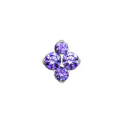 North Star Amethyst Swarovski End in Titanium by Industrial Strength