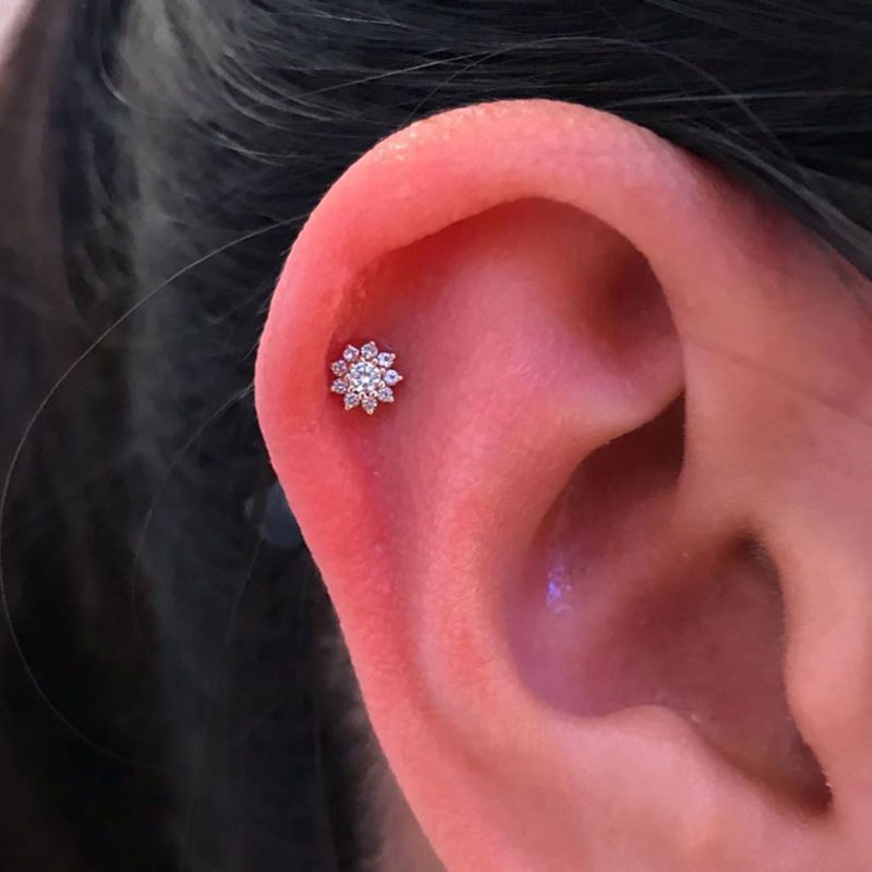 3 Helix Piercings in Mississauga