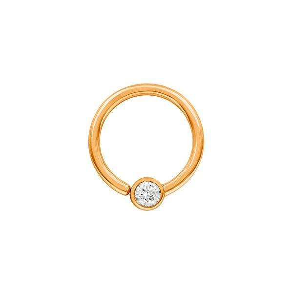 Swarovski Fixed Bead Ring in 14k Gold by Junipurr
