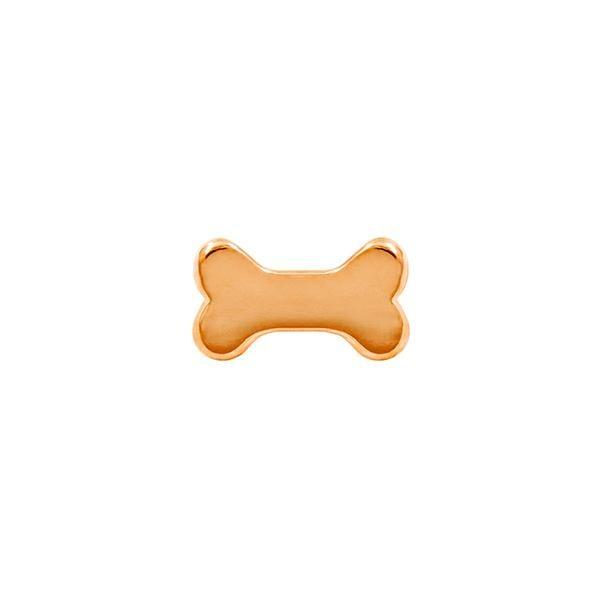 Dog Bone in 14k Gold by Junipurr