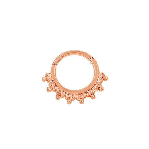 Tri-Bead Clicker in Solid 14k Rose Gold by Junipurr