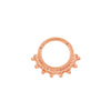 Tri-Bead Clicker in 14k Rose Gold by Junipurr